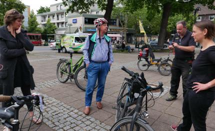 Swantje Michaelsen/Knut Werner/Ralf Marter/ Wiebke Schepelmann im Gespräch